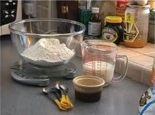The ingredients for soda bread