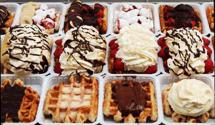 Authentic belgian waffle recipes regional and national european belgian waffles in brussels waffle shop window forumfinder Choice Image