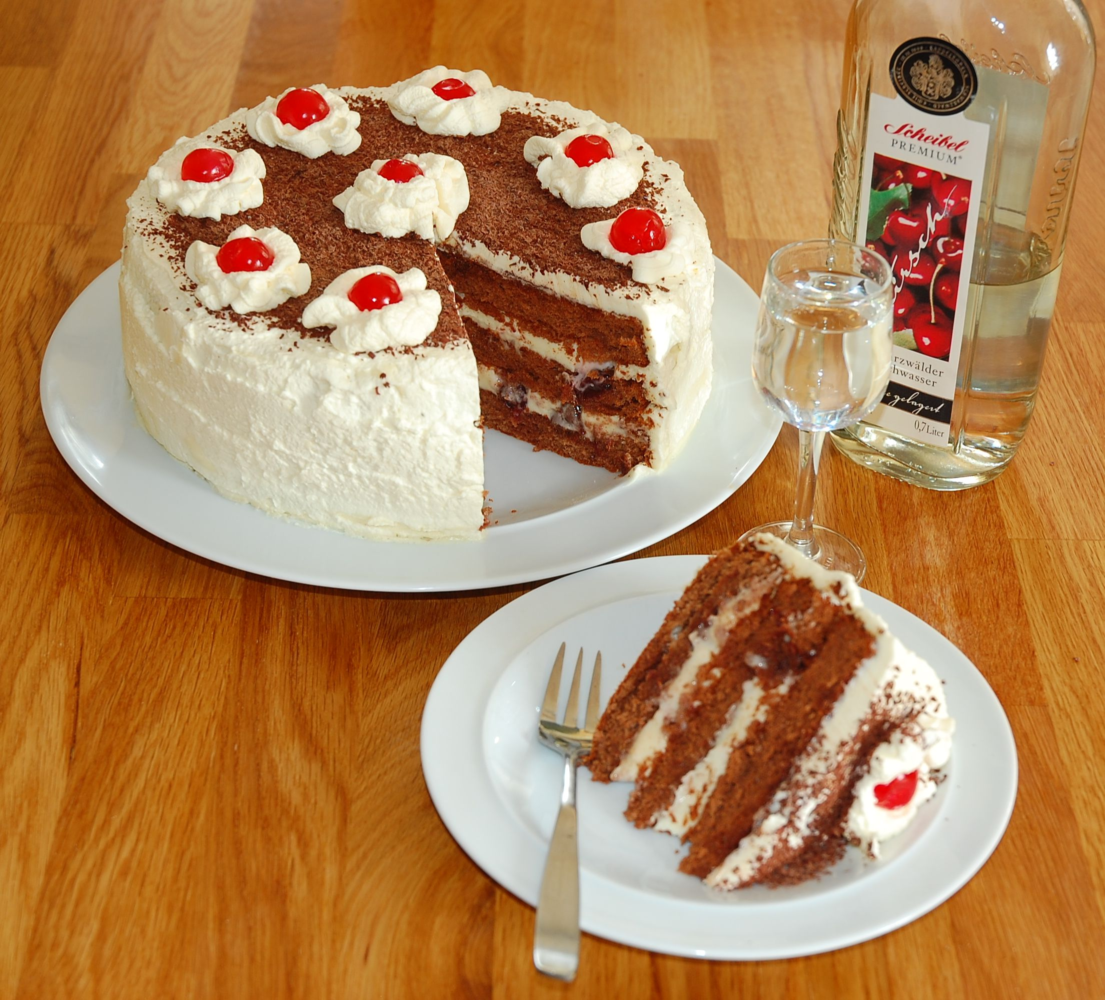 Schwarzwalder Kirschtorte or Black Forest (Cherry) Cake
